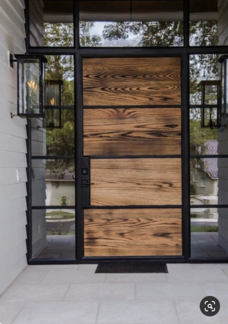 Black Steel Framed door empire steel